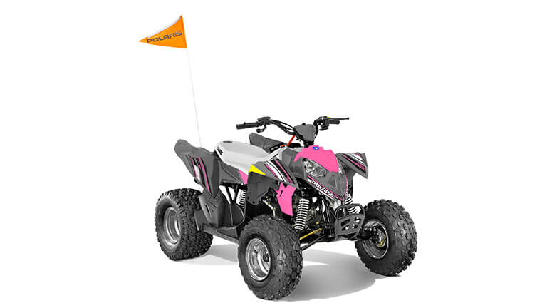 OUTLAW® 110 EFI AVALANCHE GREY/PINK POWER