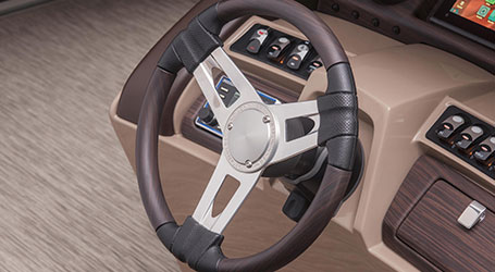 Bennington pontoon steering wheel