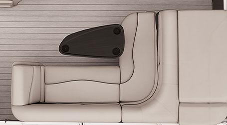 L-Bench furniture layout
