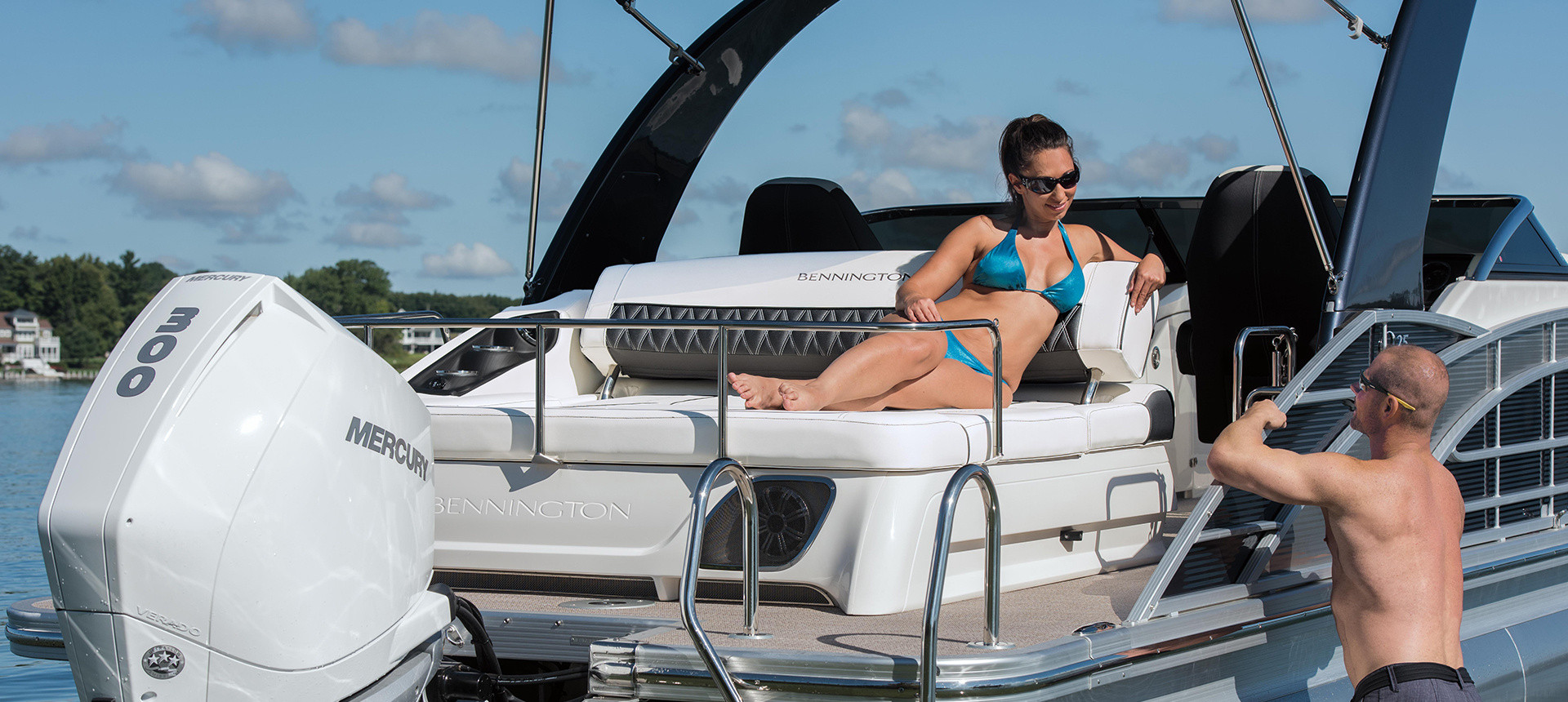 Pic of woman on Q model aft deck