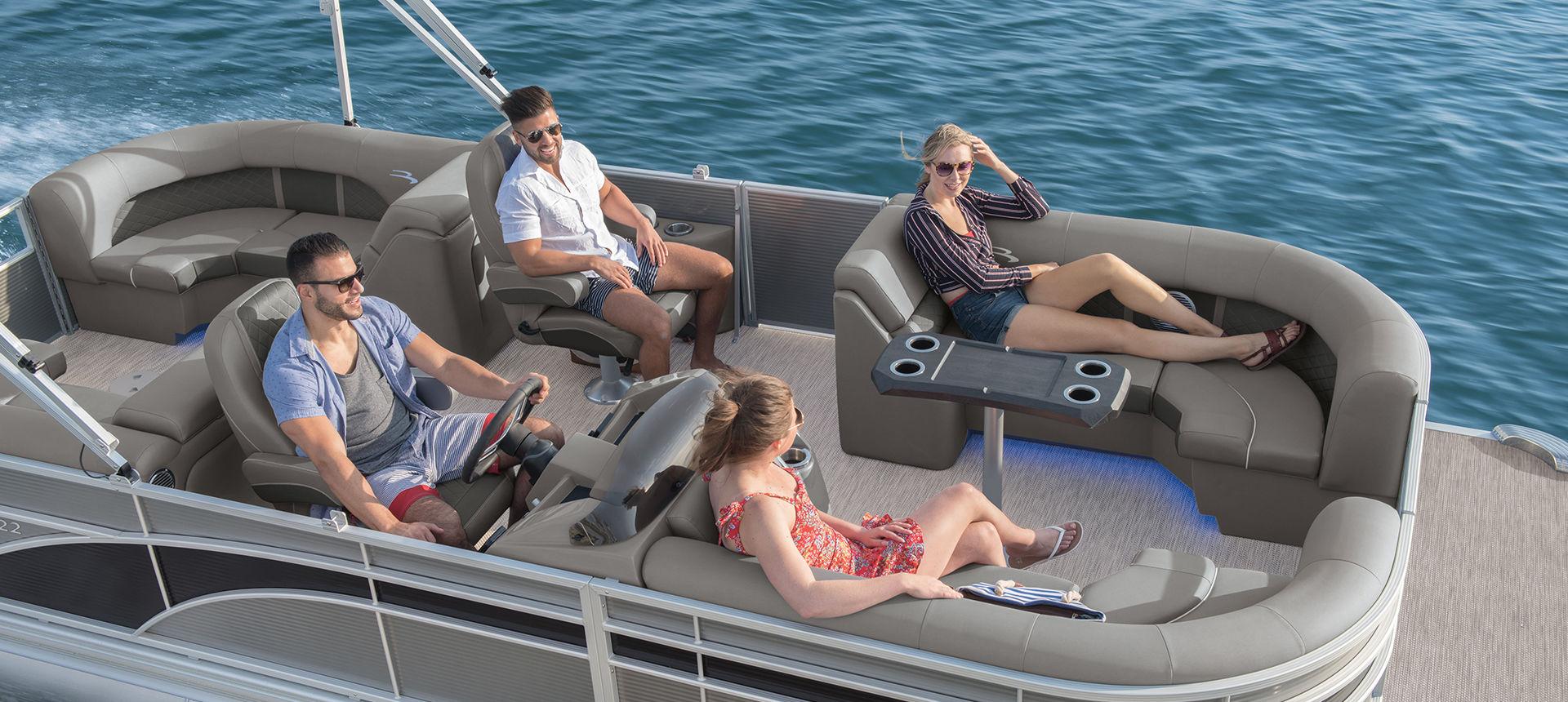Pic of people on pontoon boat