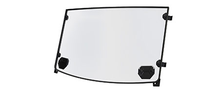 Hard Coat Poly Windshield - Vented