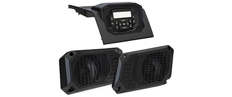 Audio system head and speakers