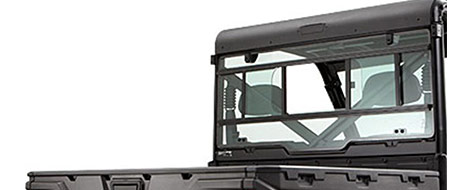Tempered Glass Rear Panel with Slider Window