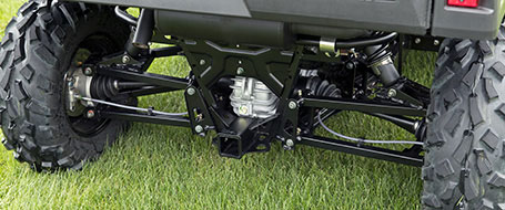 Huge ground clearance and travel