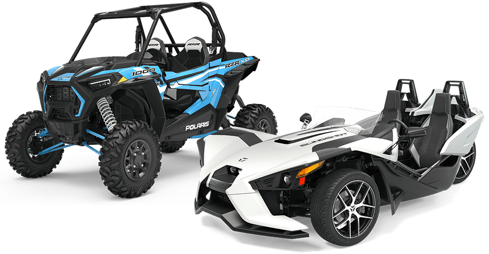 Image of a RZR 1000 and a Slingshot