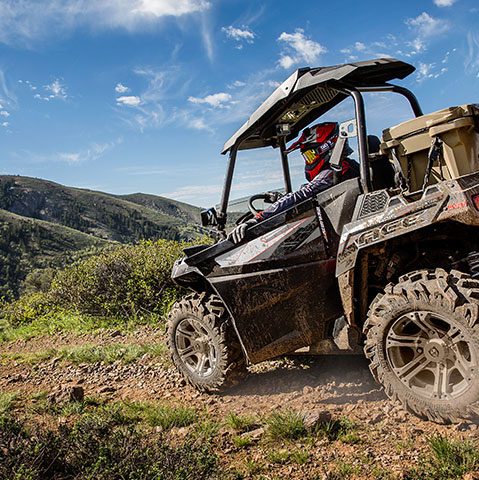 Image of an ACE vehicle on the trails