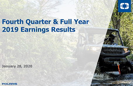 Polaris Reports Fourth Quarter & Full Year 2019 Earnings Results