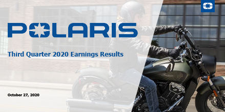 Polaris Reports 2020 Third Quarter Results Polaris