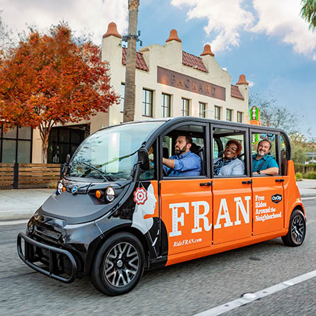 Anaheim Debuts Unique, All-Electric  Microtransit Service