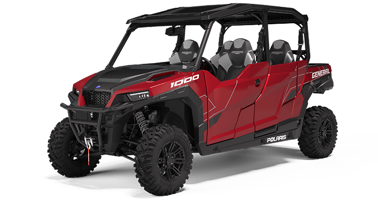 Polaris GENERAL 4 1000 Deluxe Sunset Red