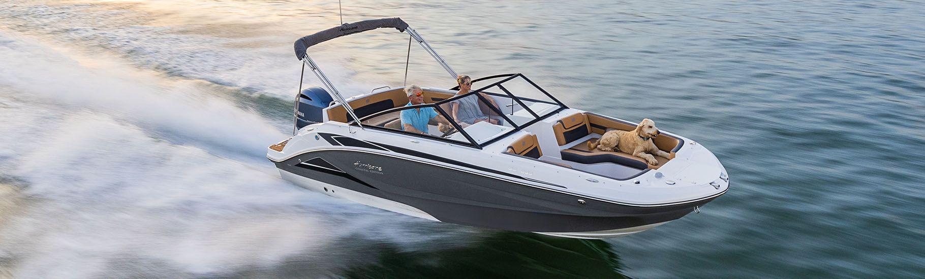 Hurricane SunDeck OB deck boat