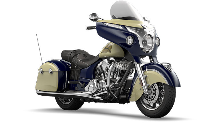 Indian Chieftain Springfield Blue and Ivory Cream
