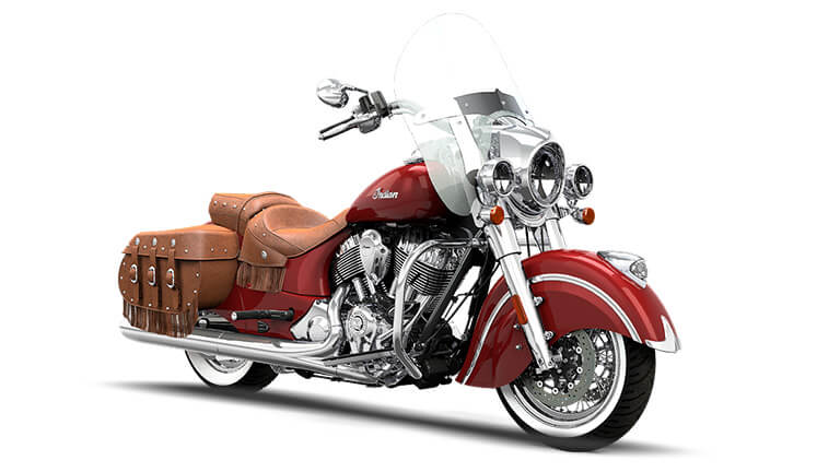 Indian Chief Vintage Indian Motorcycle Red