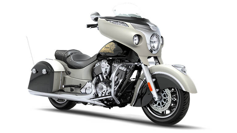 Indian Chieftain Star Silver and Thunder Black