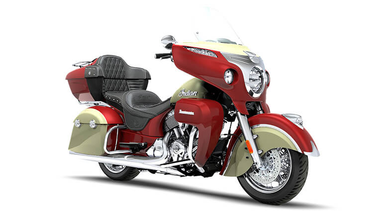 Indian Roadmaster Indian Motorcycle Red and Ivory Cream