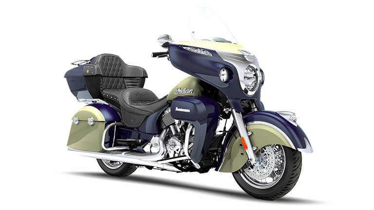 Indian Roadmaster Springfield Blue and Ivory Cream