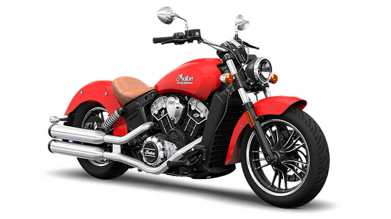 Indian Scout Wildfire Red