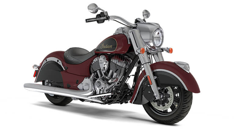 Indian Chief Classic Burgundy Metallic over Thunder Black