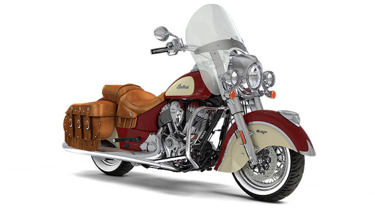 Indian Chief Vintage Indian Motorcycle Red over Ivory Cream