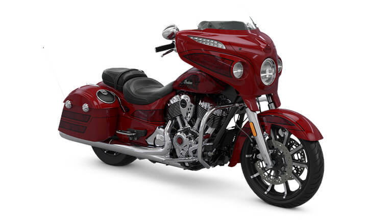 Indian Chieftain Elite Fireglow Red Candy w/ Marble Accents