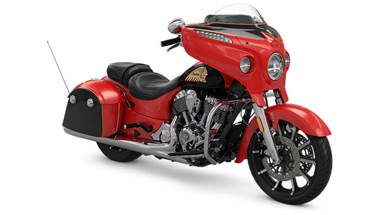 Indian Chieftain Limited Wildfire Red over Thunder Black