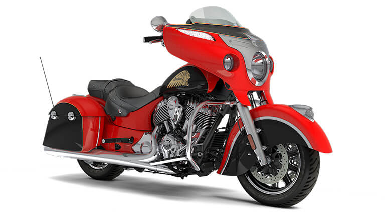 Indian Chieftain Wildfire Red over Thunder Black