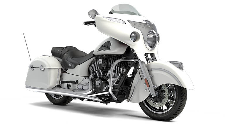 2017 Indian Chieftain Motorcycle - White Smoke