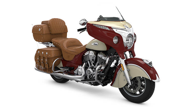 Indian Roadmaster Classic Indian Motorcycle Red over Ivory Cream