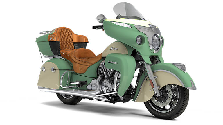 Indian Roadmaster Willow Green over Ivory Cream