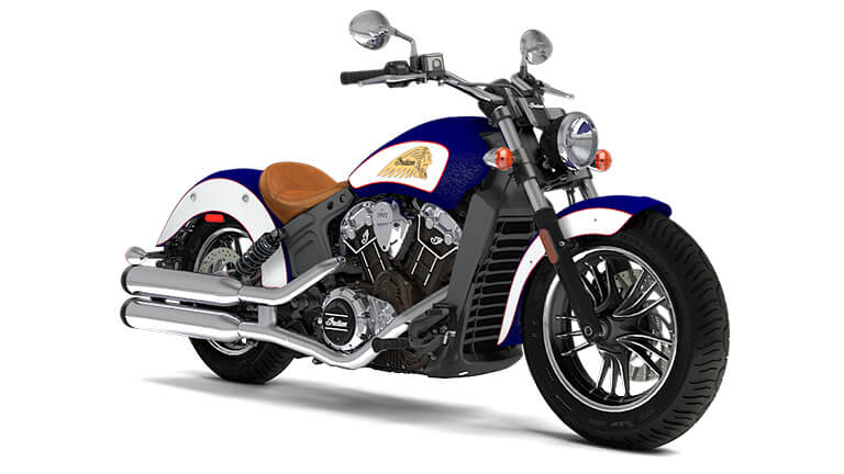 Indian Scout Brilliant Blue over White and Red
