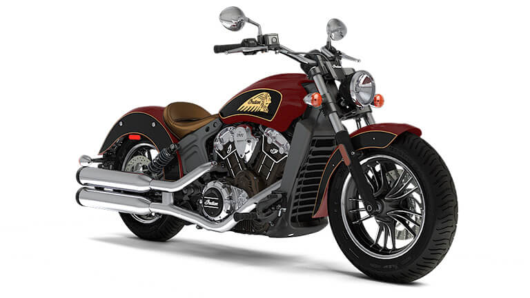 Indian Scout Indian Motorcycle Red over Thunder Black