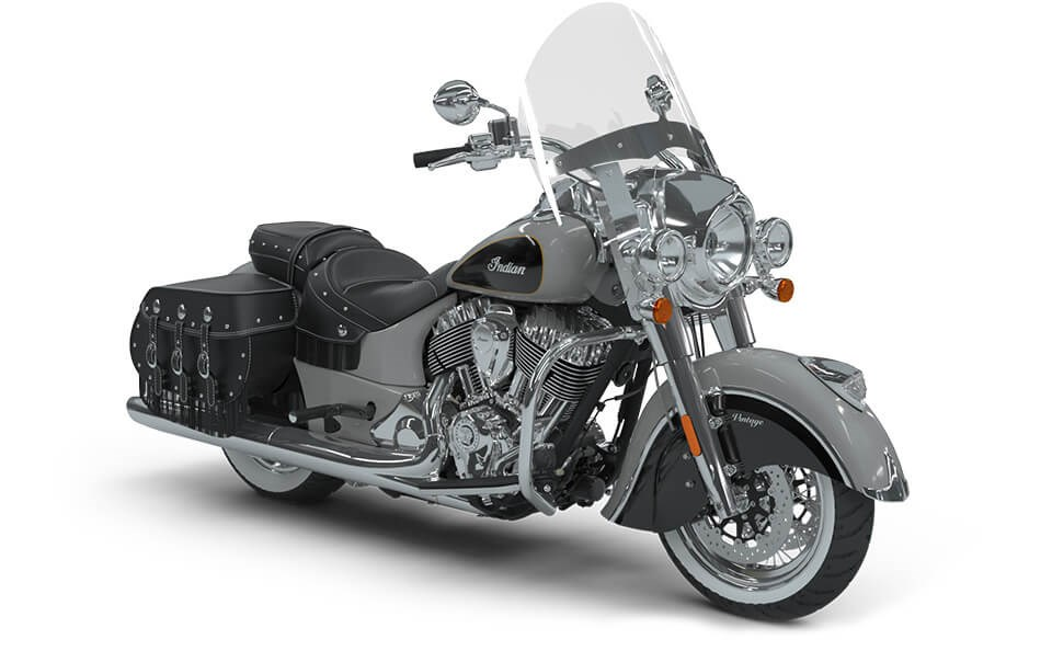 Indian Chief Vintage Star Silver over Thunder Black