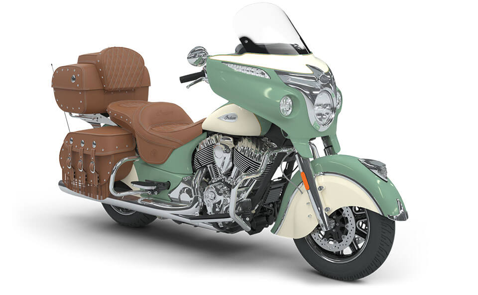 Indian Roadmaster Classic Willow Green over Ivory Cream