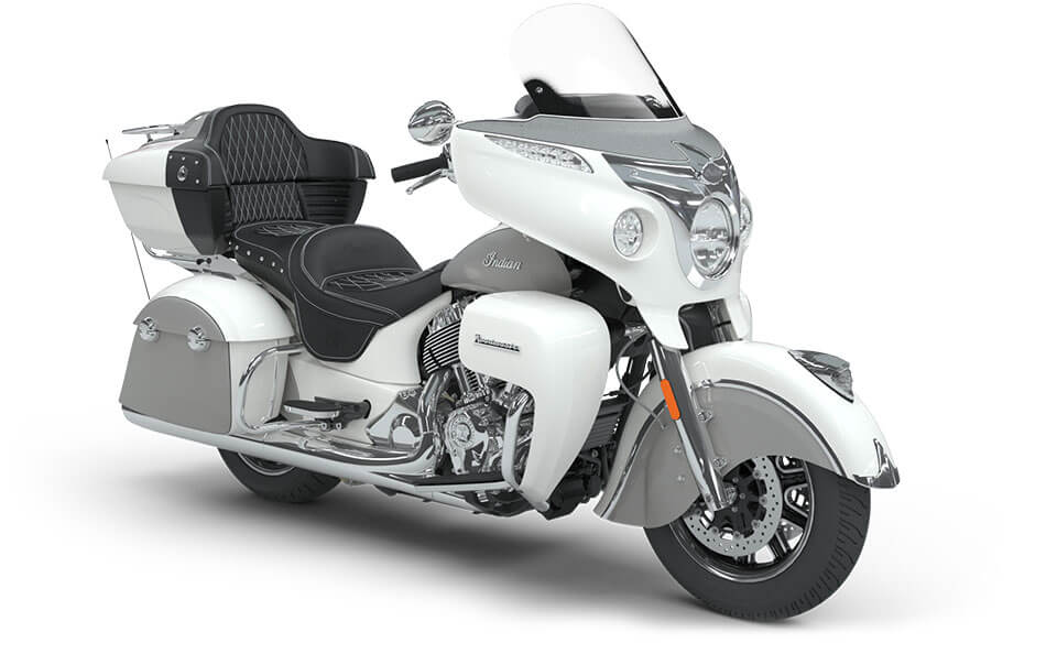 Indian Roadmaster Pearl White over Star Silver