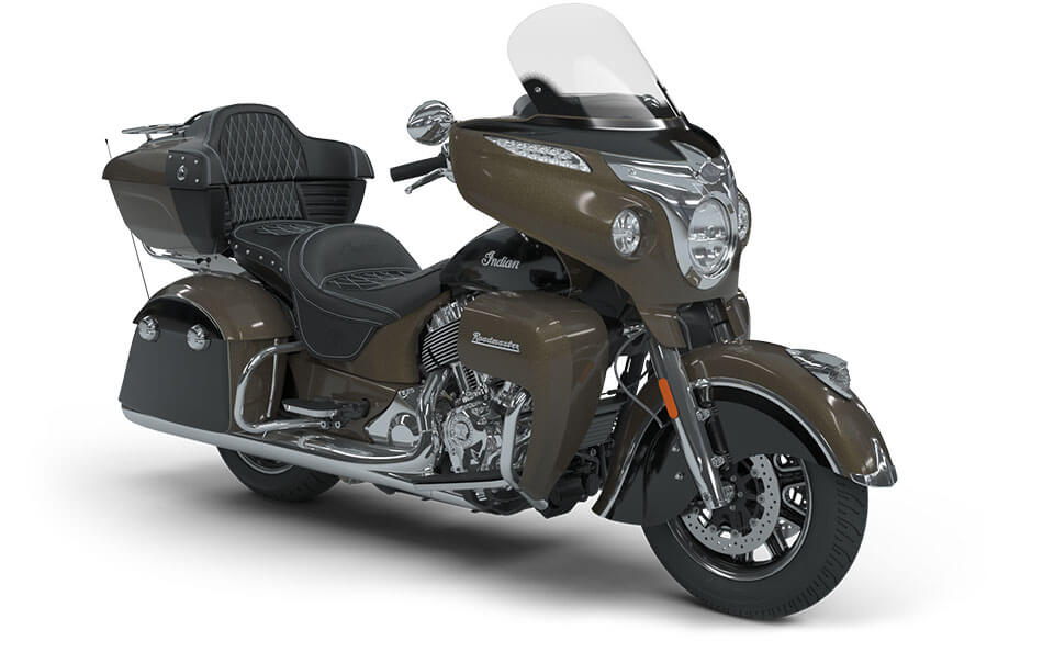 Indian Roadmaster Polished Bronze over Thunder Black with Silver Pinstripe