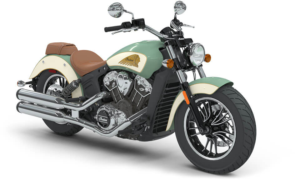 Indian Scout Willow Green over Ivory Cream with Gold Pinstripe