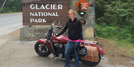Inspiring Indian Motorcycle rider Leah Misch