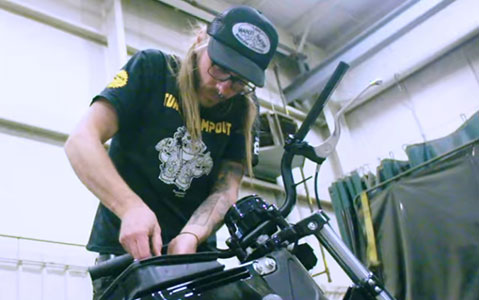 Image of Christian Newman Building a Bike
