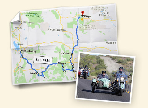 Indian Motorcycle - The Ride Route Map Image