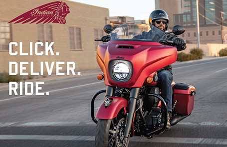 Indian Motorcycle Announces Launch Of Click.Deliver.Ride Program