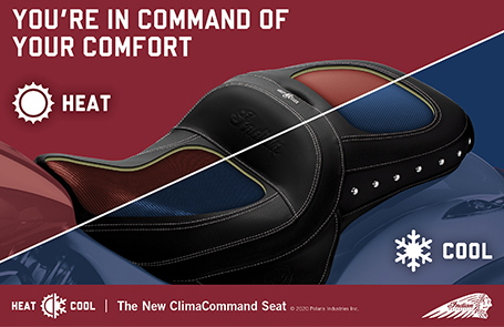 Indian Motorcycle's New Heated & Cooled Seat Features Industry-First Technology for Superior Cooling