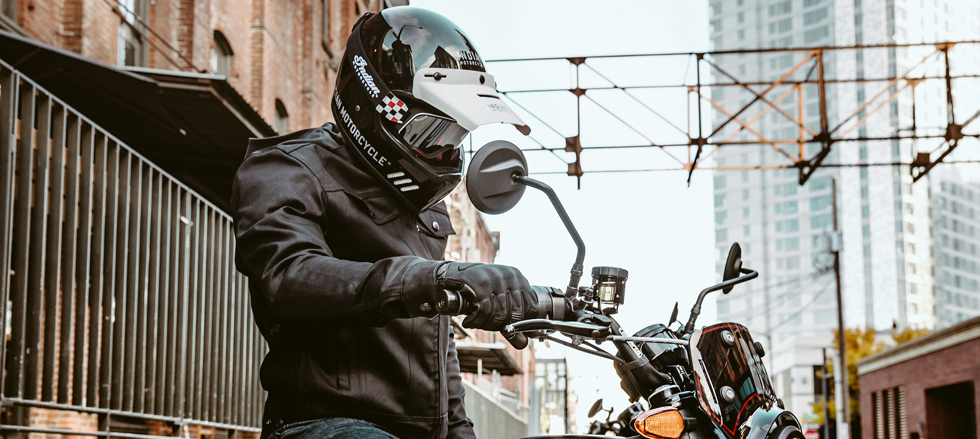 Rider on the FTR 1200 Rally motorcycle