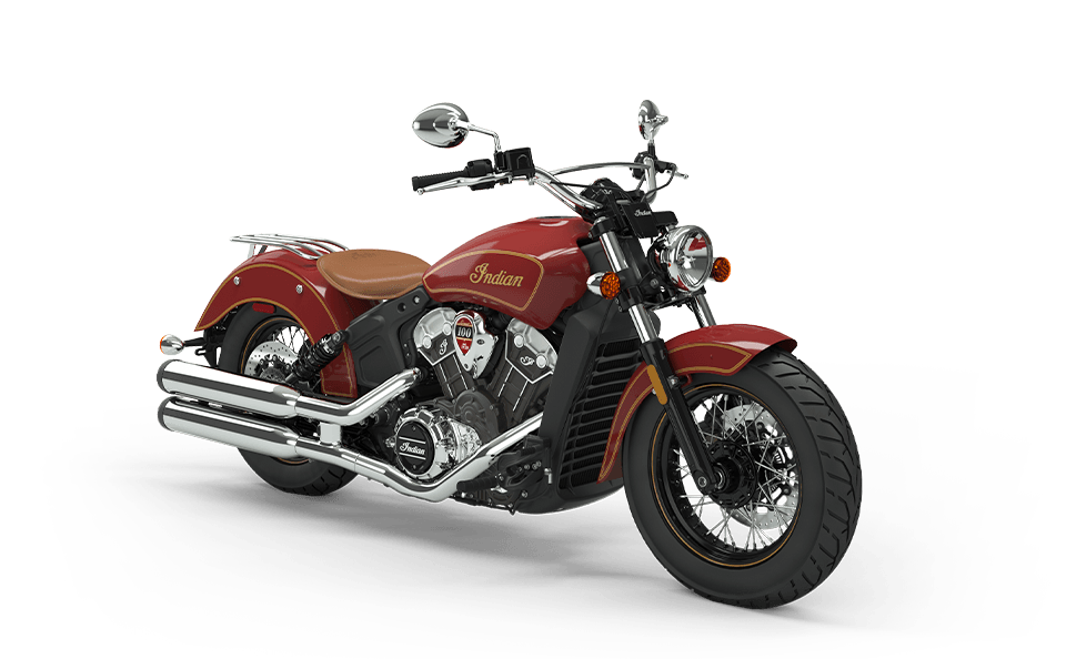 Scout 100th Anniversary Indian Red with Gold trim