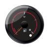 Black Dial Face Fuel Gauge - Image 1 of 3
