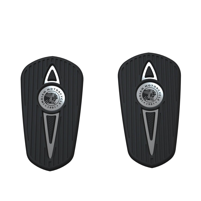 Headdress Passenger Floorboard Pads - Chrome