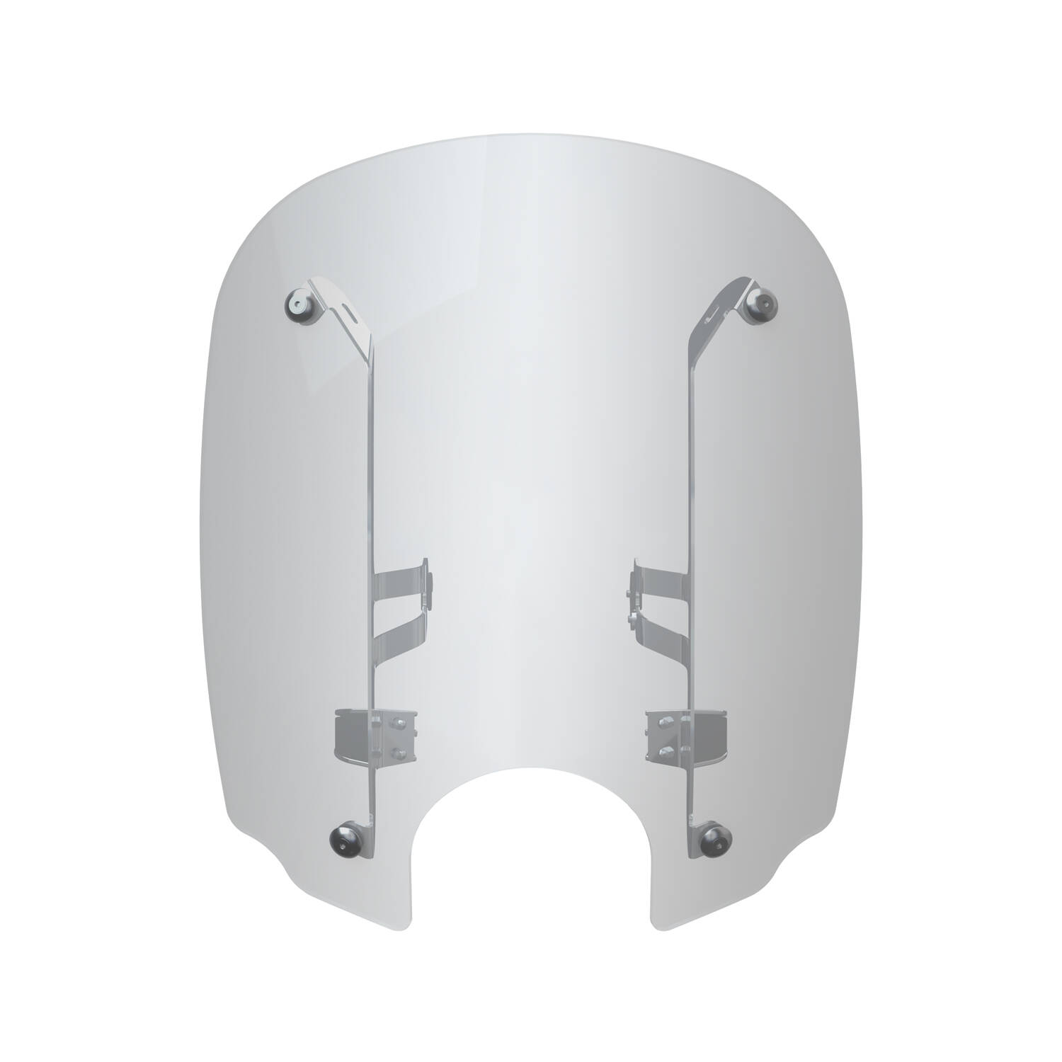 19 in. Quick Release Windshield - Chrome