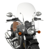Polycarbonate 24 in. Quick Release Windshield, Chrome - Image 2 of 4
