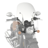 Polycarbonate 24 in. Quick Release Windshield, Chrome - Image 3 of 4