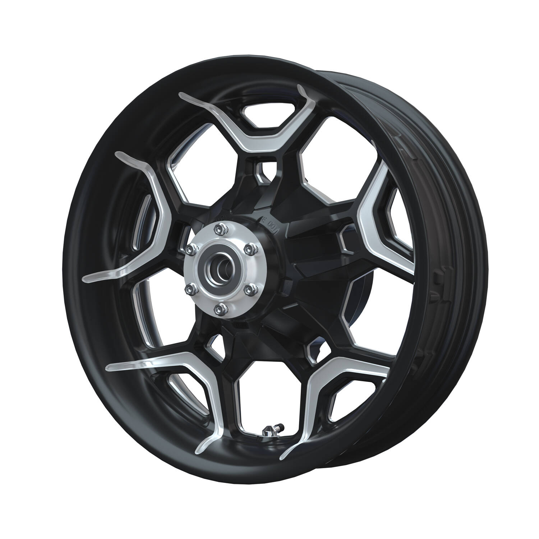 Precision Machined Rear Wheel - Contrast Cut